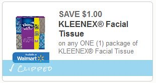 Free Kleenex at CVS