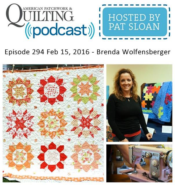 American Patchwork Quilting Pocast episode 294 Brenda Wolfensberger