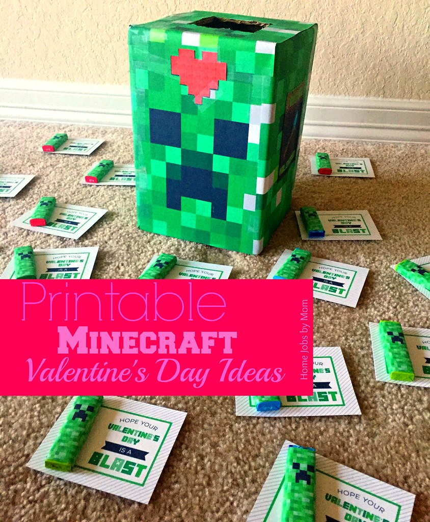 picture regarding Minecraft Printable Valentines called Printable Minecraft Valentines Working day Recommendations Residence Employment by way of Mother