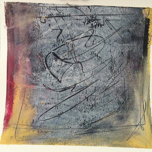 Cold wax and oil on paper #artbizcontent #coldwax 6