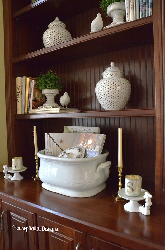 Ironstone Footbath/Great Room Bookcase - Housepitality Designs