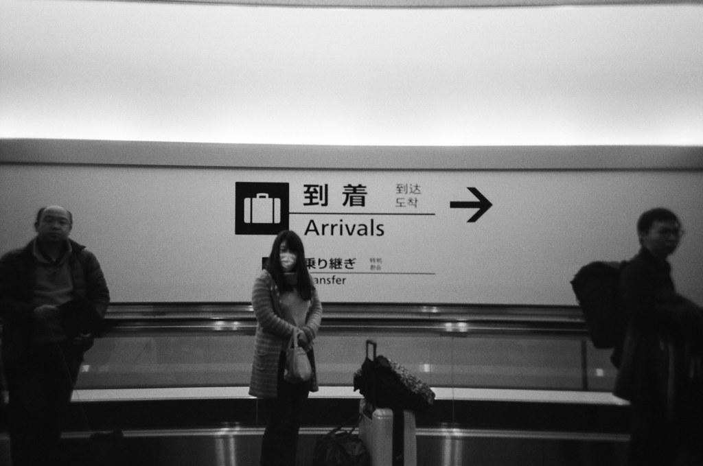 成田機場第三航站 Narita Air Port, Japan / Kodak TRI-X 400 / Lomo LC-A+ 2016/01/31 到著。  出發的時候裝了一捲黑白底片,在我印象中往返東京與台北這段行程還沒有用黑白的影像紀錄。  Lomo LC-A+ Kodak TRI-X 400 / 400TX 8561-0005 Photo by Toomore