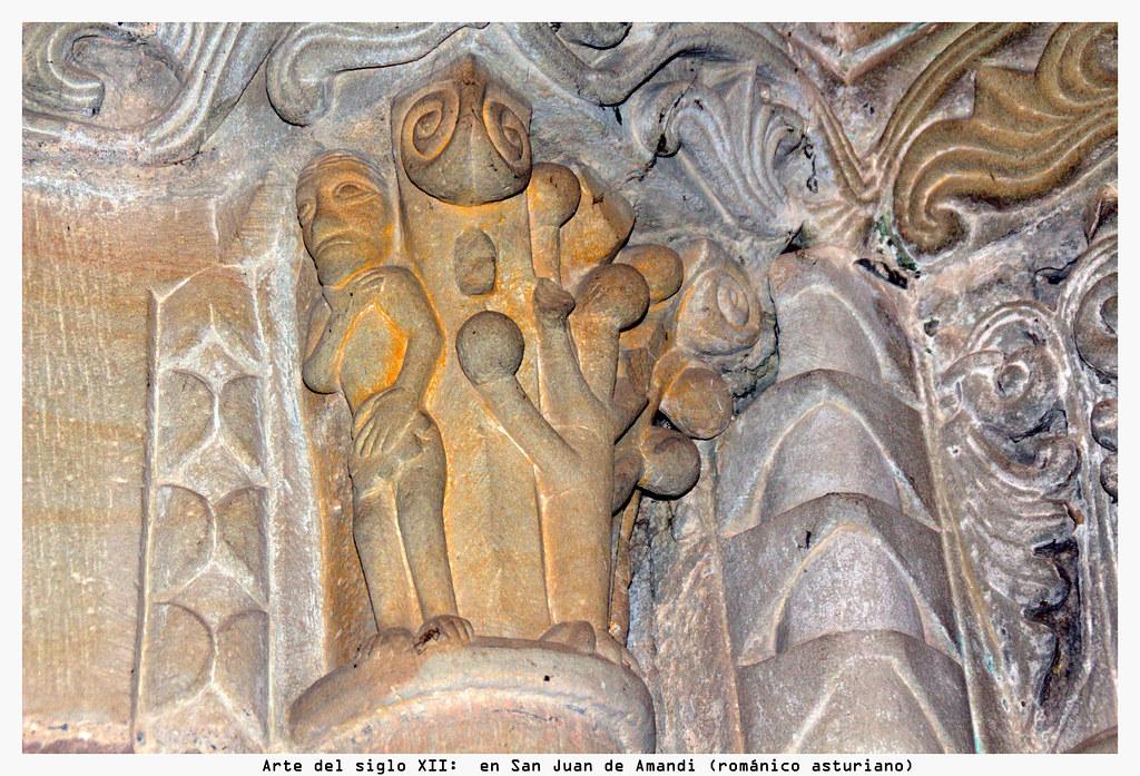 Arte del siglo XII: en San Juan de Amandi (románico asturiano)