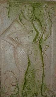 Grabplatte des Matthias Budde in der Gramzower Kirche