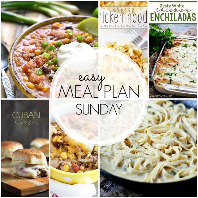 Week 39. Collaborative weekly meal planning. 9 bloggers. 6 dinner ideas, one-weekend breakfast plus 2 desserts every single week equals one heck of a delicious menu!