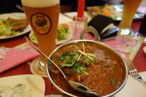 Indisch Curry und Fränkisches Bier