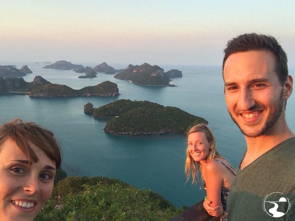 Con Megan en el mirador de Ko Wua Talap