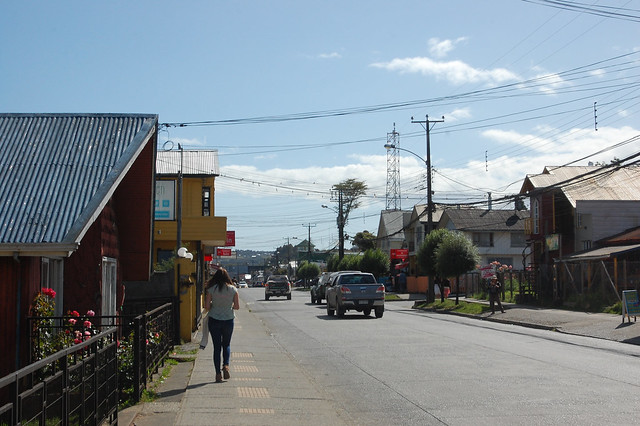 Streets of Dalcahue, Chiloé, Chile