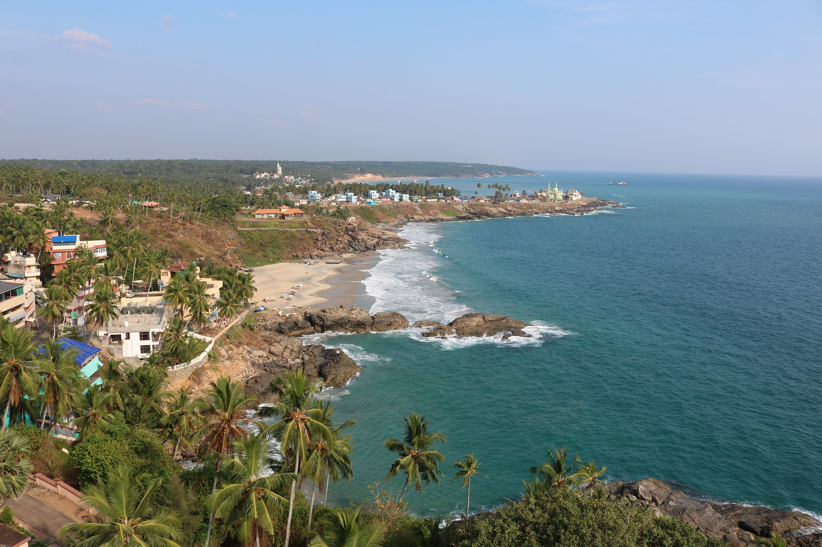 View from Kovalam Lighthouse - LeftSide