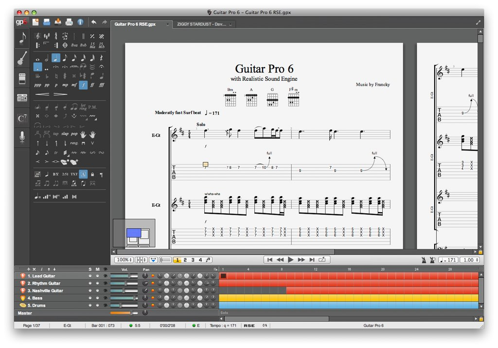 Guitar Pro 7 5 2 – Edit tablatures for bass, guitar and