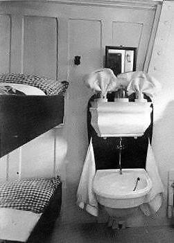 Third class cabin aboard Titanic