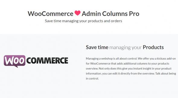 WooCommerce Admin Columns Pro v1.4