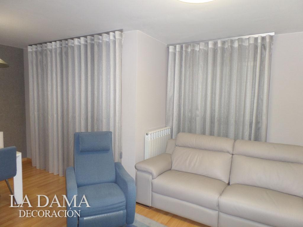Fotograf as de cortinas modernas la dama decoraci n - Volantes de cortinas ...