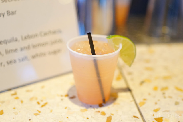 Watermelon Margarita avion reposado tequila, leblon cachaca, watermelon, lime, lemon juice, cayenne, salt, sugar