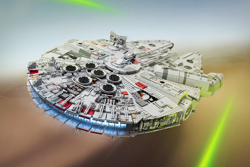 UCS Episode VII Millennium Falcon, by marshal_banana, on Eurobricks
