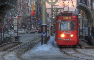 Tramcar with CocaCola ad. or 221 of Sapporo on DEC 29, 2015 (8)
