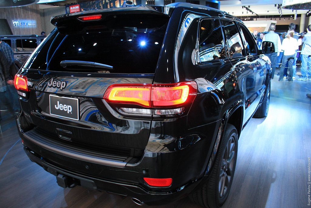 Jeep Grand Cherokee from the back