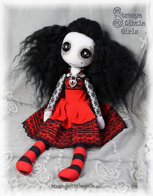 Button eyed Gothic doll - Ruby Lovelock