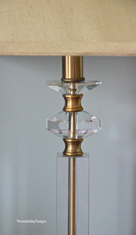 Brass and Crystal Lamp - Housepitality Designs