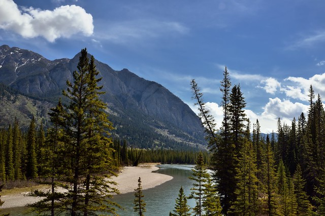 Mount Cory Along the Trans-Canada Highway 1 (Banff National Park)