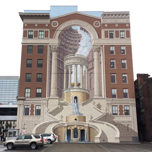 My most favorite mural in #cincinnati. Dimension, history, beauty.