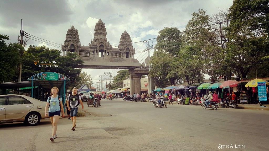 【柬埔寨自由行】超恐怖泰國到柬埔寨 暹粒吳哥窟市區交通方式 泰柬邊境落地簽 超恐怖加可惡泰國邊境 不被騙錢出入境解說 @GINA環球旅行生活 不會韓文也可以去韓國 🇹🇼