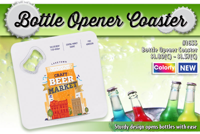 Illini Bottle Opener Coaster