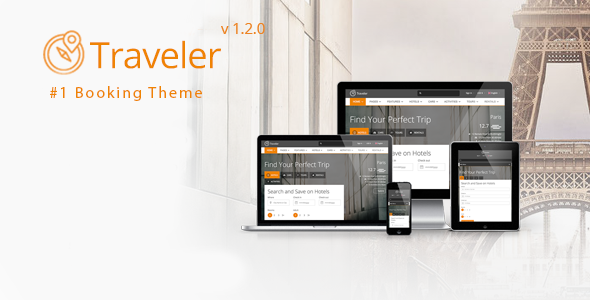 Themeforest Traveler v1.2.0 - Travel/Tour/Booking WordPress Theme