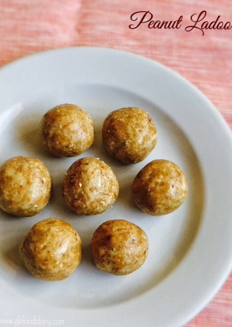 Peanut Ladoo Recipe for Toddlers and Kids