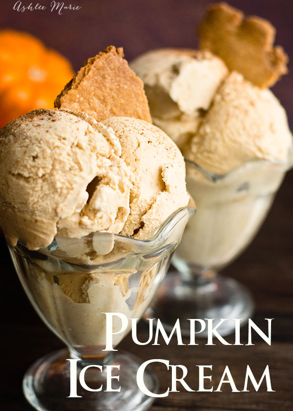 this ice cream is super easy to make and it tastes like a creamy cold pumpkin pie