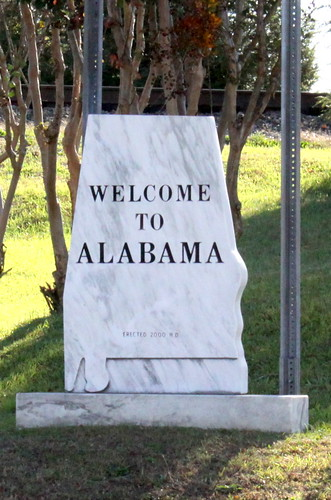 Welcome to Alabama sign - Ardmore