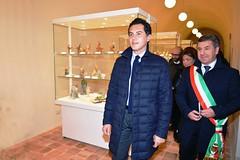La prima visita al Museo dell'on. Altieri e del sindaco Romagno