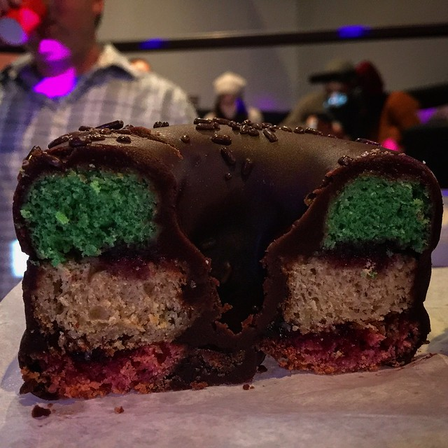 Rainbow cookie donut #donutfestnyc