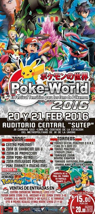 Poke World 2016 este 20 y 21 de febrero