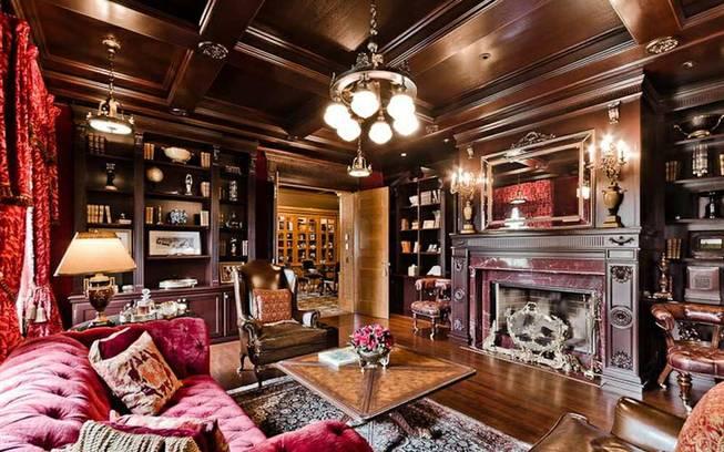 Элитный деревянный интерьер в доме Селин Дион