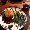Stilton & mushroom beef Wellington with a shallot & red wine reduction sauce & roasted asparagus #valentinesweekend