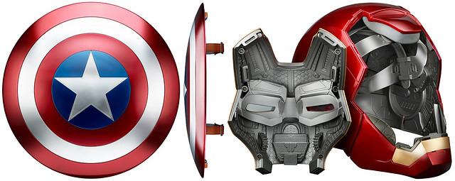 【台灣開始預購!販售資訊公布】Marvel Legends 高度細節的「鋼鐵人頭盔」與「美國隊長盾牌」扮裝玩具