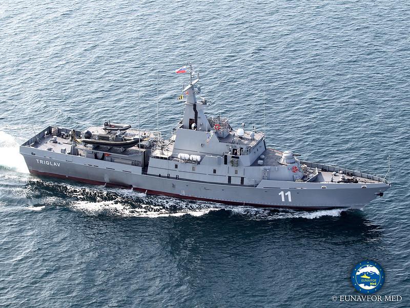 Farewell of Slovenian ship Triglav EUNAVFOR MED OPERATION Sophia