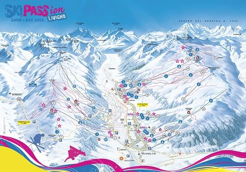 Livigno - mapa sjezdovek