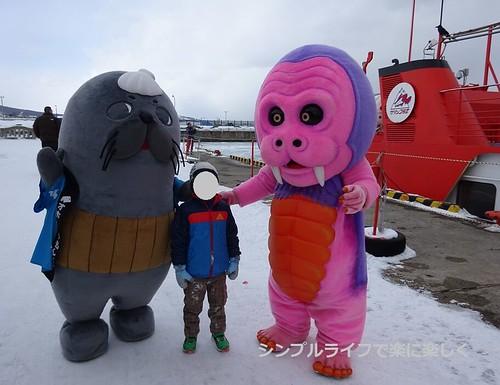流氷、ガリンコ号・紋太とモンベモン