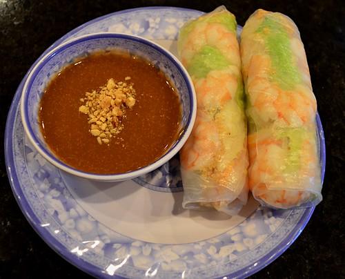 Jicama Spring Rolls with Peanut Sauce