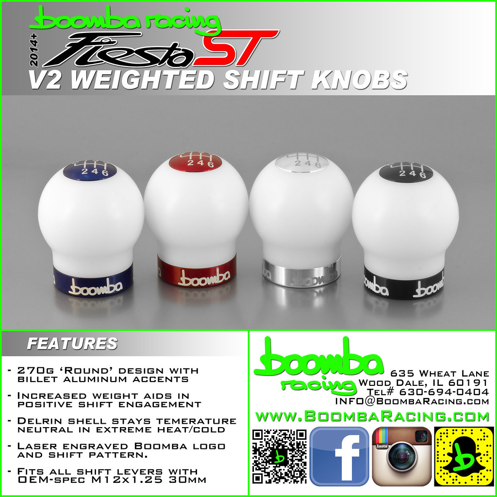 White Weighted Shift Knobs - Boomba Racing