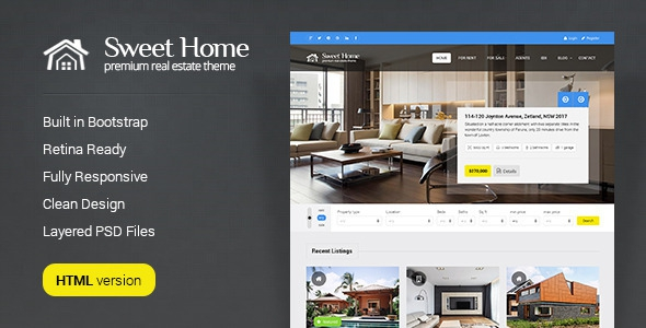 Sweethome – Real Estate HTML Template
