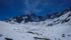 Pic de Neige Cordier z podejścia przełęcz Col d