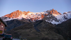 Masyw La Meije 3987m od północy (z Villar d