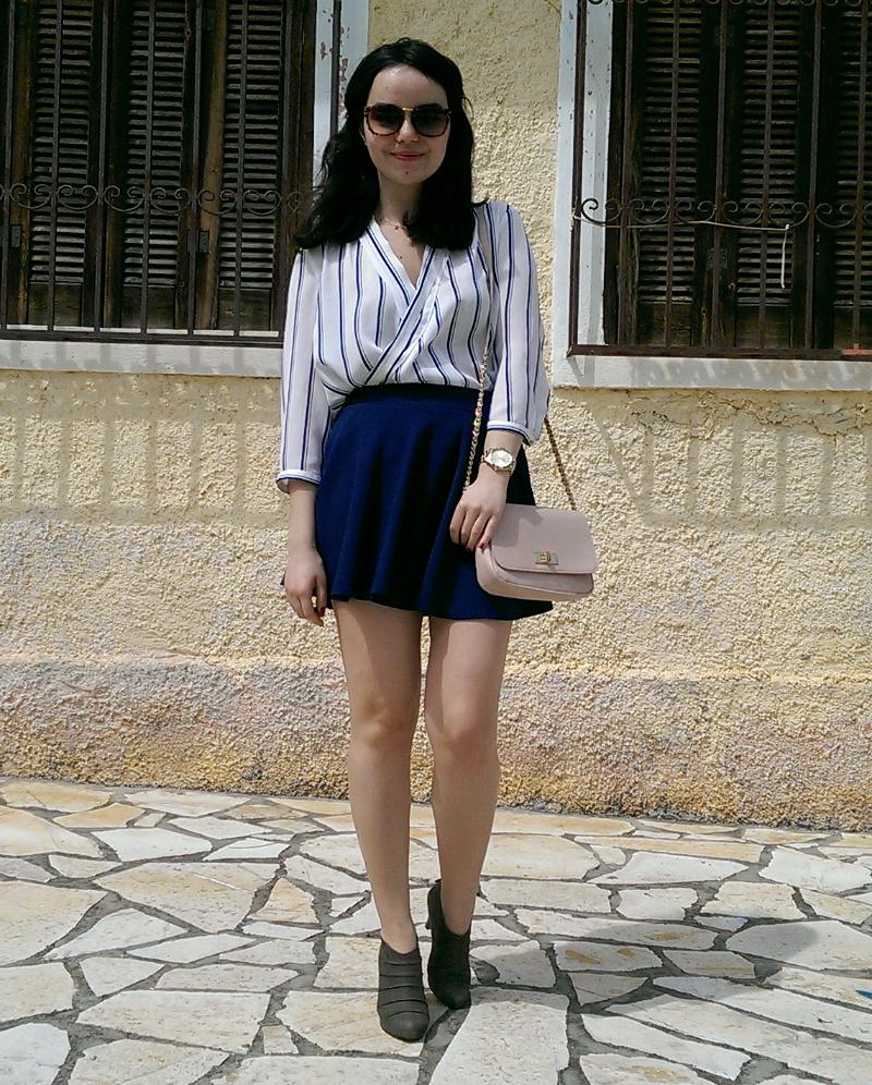 navy skirt_