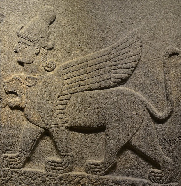 Chimera with a human head and a lion's head; Late Hittite period, Museum of Anatolian Civilizations, Ankara