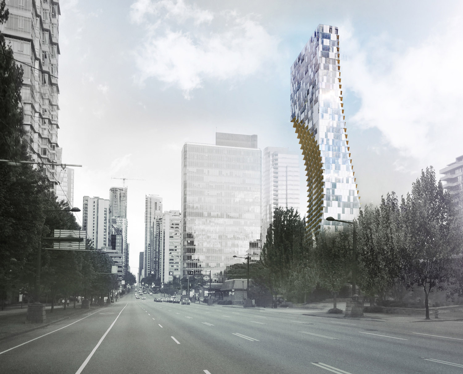 mm_Mixed-Use Skyscraper in Vancouver design by Kengo Kuma_01