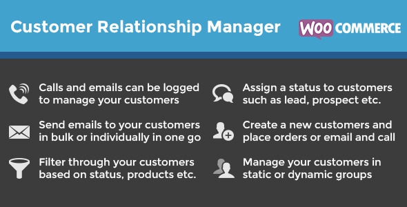 WooCommerce Customer Relationship Manager v3.3.3