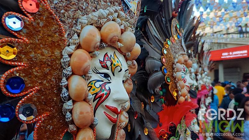 Masks on display